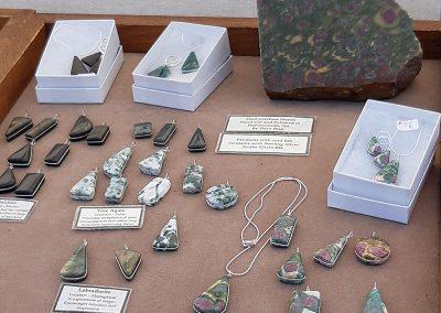 6. stone pendants