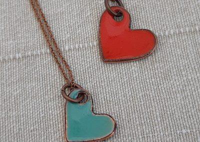 9. heart pendants